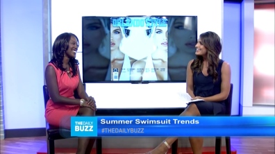 Reporting on Swimsuit Trends for The Daily Buzz