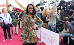 Riesa on the Red Carpet of the 87th Annual Academy Awards