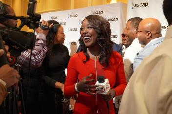 Riesa at the 2019 Vegas Stellar Awards