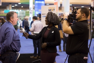 Riesa interviewing attendees of MJBizCon
